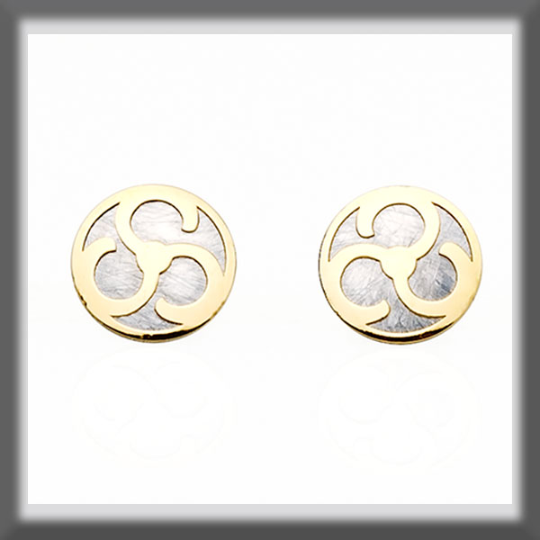 EARRINGS IN STAINLESS STEEL AND IN GOLD ROUNDS, LARGE, A PROPELL